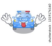 tongue out car police isolated... | Shutterstock .eps vector #1319176160