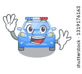 waving police car in the shape... | Shutterstock .eps vector #1319176163