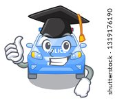 graduation police car in the... | Shutterstock .eps vector #1319176190