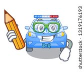 student police car in the shape ... | Shutterstock .eps vector #1319176193