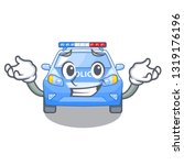 grinning police car in the... | Shutterstock .eps vector #1319176196