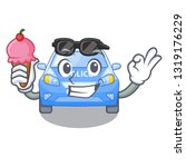 with ice cream police car in... | Shutterstock .eps vector #1319176229
