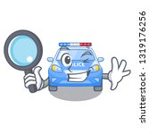 detective police car in the... | Shutterstock .eps vector #1319176256