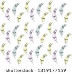 vintage feather colorfuul... | Shutterstock .eps vector #1319177159