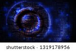 abstract data array background  ... | Shutterstock .eps vector #1319178956