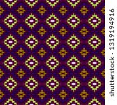 colorful seamless embroidery... | Shutterstock . vector #1319194916