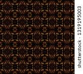 gold batik background. ethnic... | Shutterstock . vector #1319195003