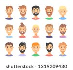 set of caucasian male... | Shutterstock .eps vector #1319209430