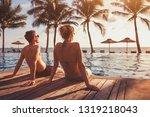 romantic getaway holidays for... | Shutterstock . vector #1319218043