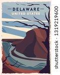 Delaware Retro Poster. Usa...