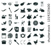 49 cooking icon set | Shutterstock .eps vector #1319225600