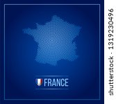 france dotted technology map.... | Shutterstock .eps vector #1319230496