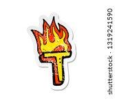 retro distressed sticker of a... | Shutterstock .eps vector #1319241590