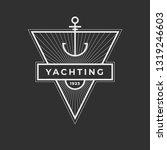 yachting club logo set.... | Shutterstock .eps vector #1319246603