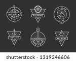 yachting club logo set.... | Shutterstock .eps vector #1319246606