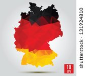 map and flag of germany | Shutterstock .eps vector #131924810