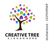 creative tree logo vector | Shutterstock .eps vector #1319249069
