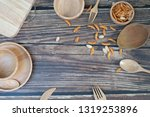 design concept of wooden... | Shutterstock . vector #1319253896