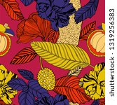 tropical exotic print  bright... | Shutterstock .eps vector #1319256383