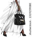long female legs in a beautiful ...   Shutterstock .eps vector #1319259080
