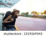 beautiful asian or caucasian... | Shutterstock . vector #1319269343