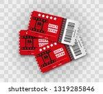 vector cinema tickets isolated ... | Shutterstock .eps vector #1319285846
