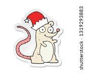 sticker of a cartoon mouse... | Shutterstock .eps vector #1319293883