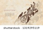 evolution. people and animals... | Shutterstock .eps vector #1319295119