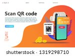 online payment concept... | Shutterstock .eps vector #1319298710