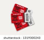 vector cinema tickets isolated...   Shutterstock .eps vector #1319300243