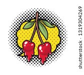 cherry dripping isolated icon | Shutterstock .eps vector #1319304269