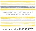 long ink brush strokes isolated ... | Shutterstock .eps vector #1319305670