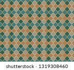 ottoman mosque window vector... | Shutterstock .eps vector #1319308460