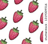 pattern strawberry isolated icon | Shutterstock .eps vector #1319309516