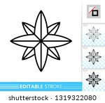 wind rose thin line icon.... | Shutterstock .eps vector #1319322080
