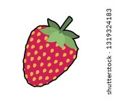 strawberry fruit isolated icon | Shutterstock .eps vector #1319324183