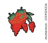 cherry and strawberry dripping... | Shutterstock .eps vector #1319324216