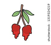 cherry dripping isolated icon | Shutterstock .eps vector #1319324219
