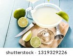 margarita cocktail with lime in ...   Shutterstock . vector #1319329226