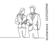 two person of office worker.... | Shutterstock .eps vector #1319332940