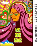 we are love 1960s  style hippie ...   Shutterstock .eps vector #1319334686