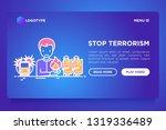 stop terrorism web page...   Shutterstock .eps vector #1319336489