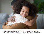 cute funny mixed race child... | Shutterstock . vector #1319345669