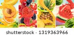 juicy and fresh fruit. peach ... | Shutterstock .eps vector #1319363966