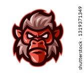 ape head mascot logo vector | Shutterstock .eps vector #1319371349