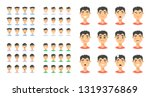 set of male emoji characters.... | Shutterstock .eps vector #1319376869