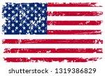 grunge american flag.  | Shutterstock .eps vector #1319386829