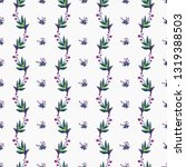stitching seamless pattern with ... | Shutterstock .eps vector #1319388503