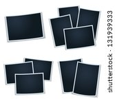 set of photos  frames  for your ... | Shutterstock .eps vector #131939333