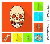isolated object of bone and...   Shutterstock .eps vector #1319396630